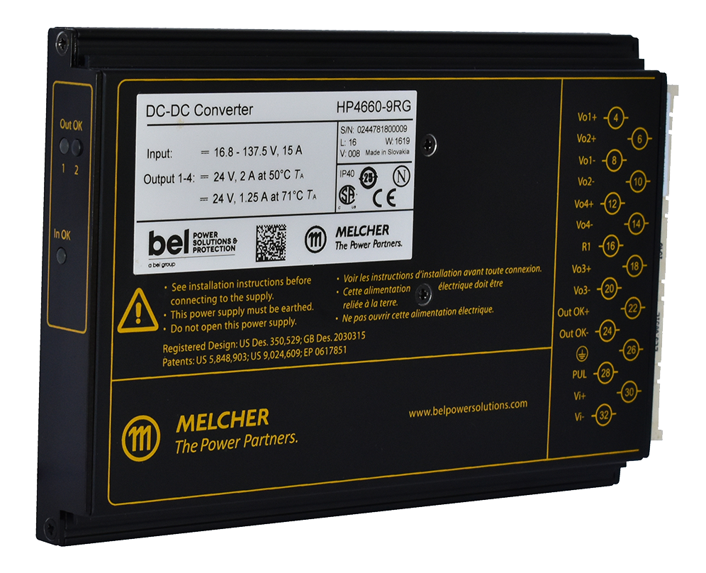 Bel Power Solutions Launches Compact, Ruggedized Melcher™ HP Series